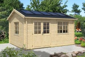 Gartenhaus mit Solaranlage (© A-Z Gartenhaus-GmbH.de)