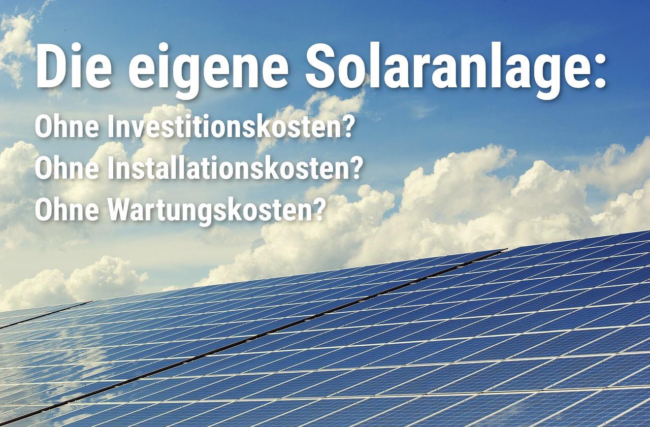 Finanzierung einer Solaranlage