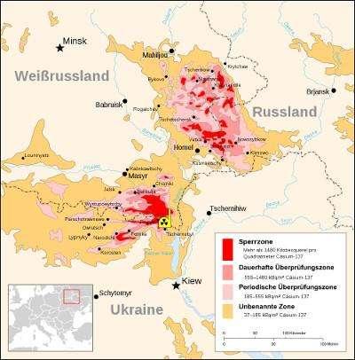 Die Tschernobyl-Katastrophe verstrahlte weite Teile der Ukraine (© Wikipedia)