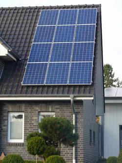 Photovoltaik auf einem Einfamilienhaus
