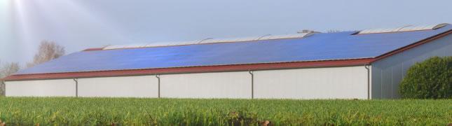 Große Photovoltaikanlagen auf gewerblich genutzten Gebäuden benötigen immer eine Photovoltaik-Gewerbeanmeldung