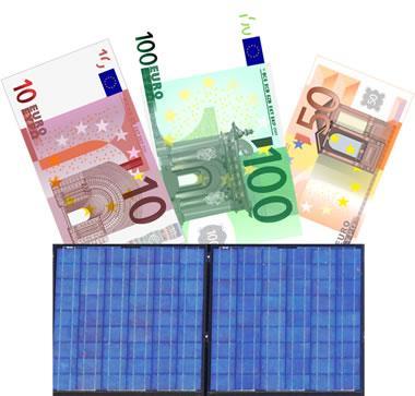 Photovoltaik-Förderungen bringen bares Geld (© Solaranlagen-Portal.de)
