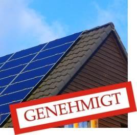 Photovoltaikanlage mit Baugenehmigung