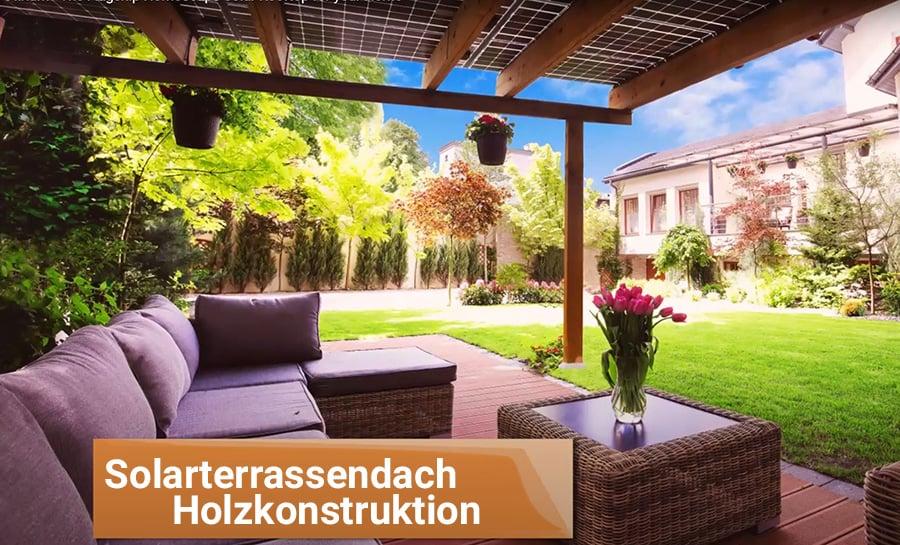 Solarterrassendach Holz Unterbau