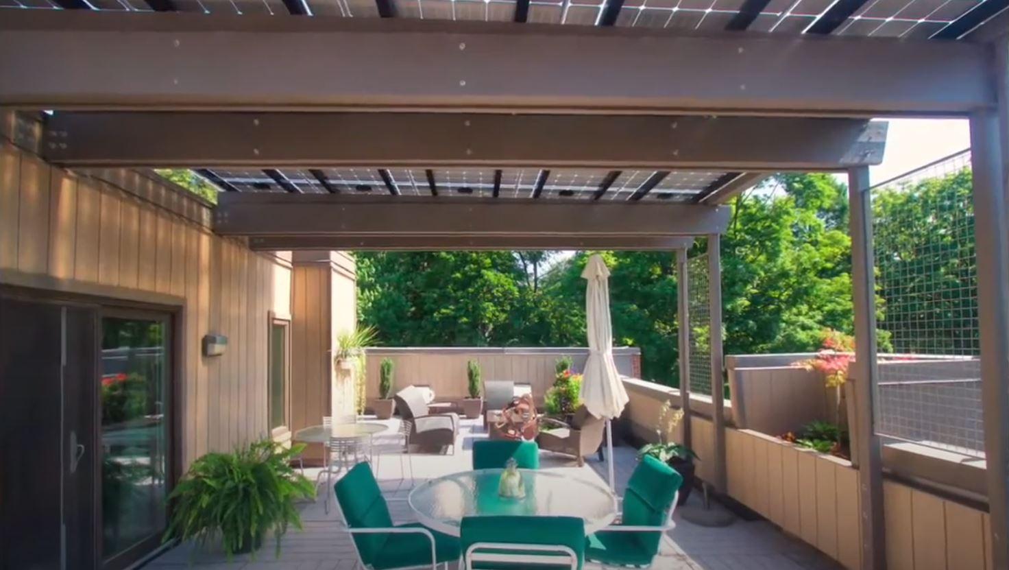 Solarterrassendach Module