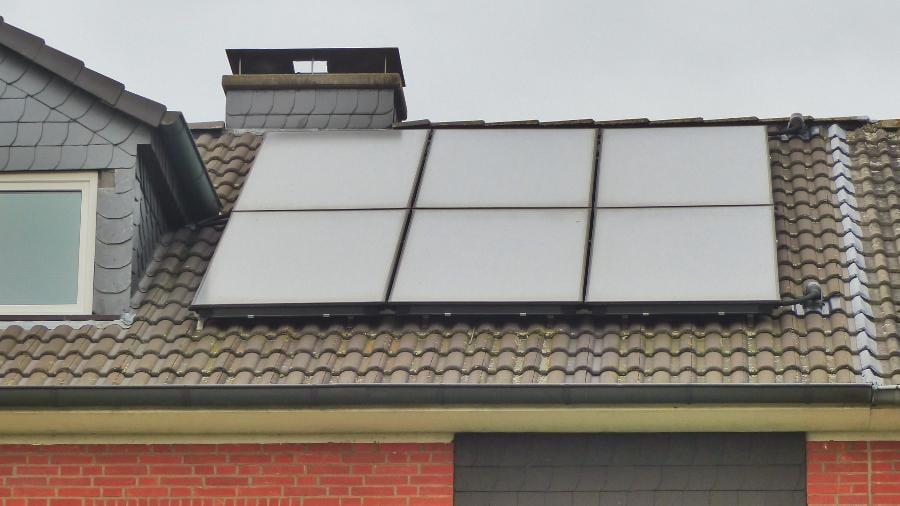 Solarthermieanlage auf Mehrfamilienhaus