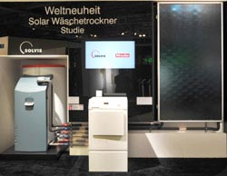 solar w schetrockner auf der woche der umwelt in berlin. Black Bedroom Furniture Sets. Home Design Ideas